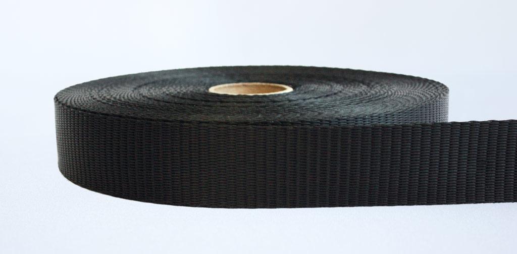 35mm-2.5 Ton Industrial Webbing Black - Weavewell