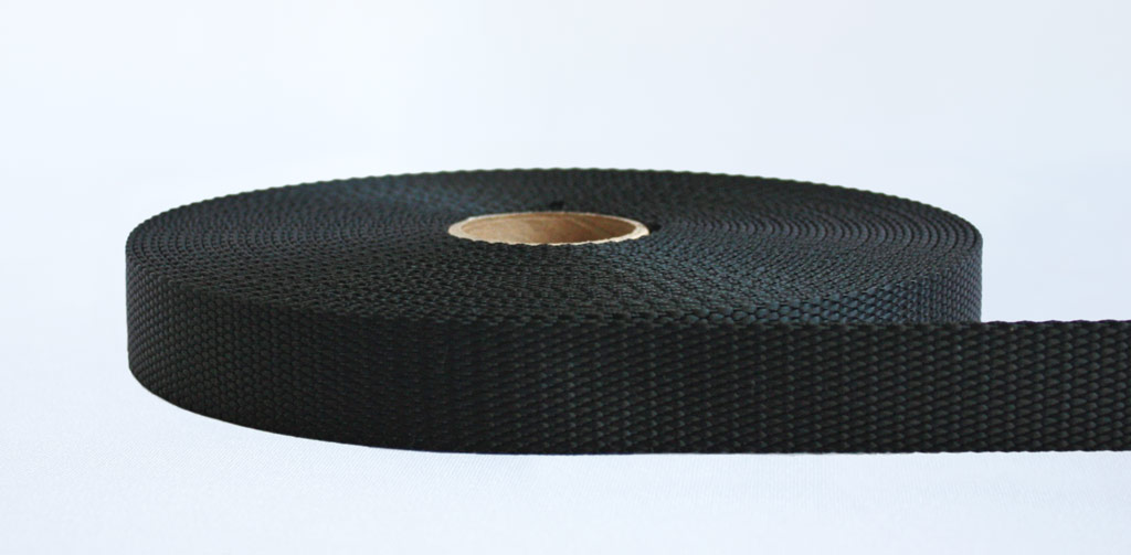25mm-2 Ton Industrial Webbing Black - Weavewell