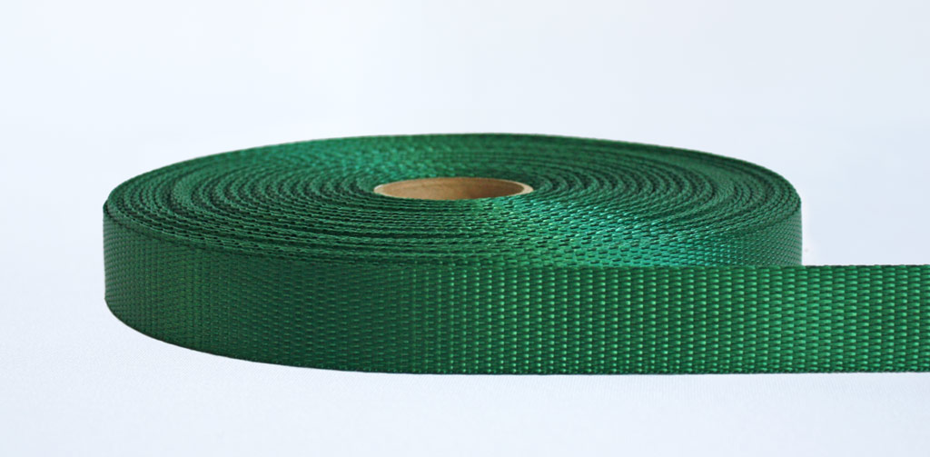 25mm-700kg Industrial Webbing Green - Weavewell