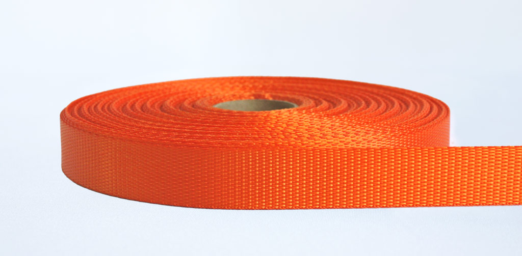 25mm-700kg Industrial Webbing Orange - Weavewell
