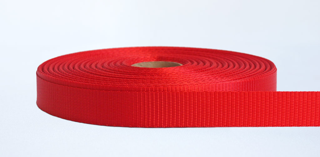 25mm-700kg Industrial Webbing Red - Weavewell