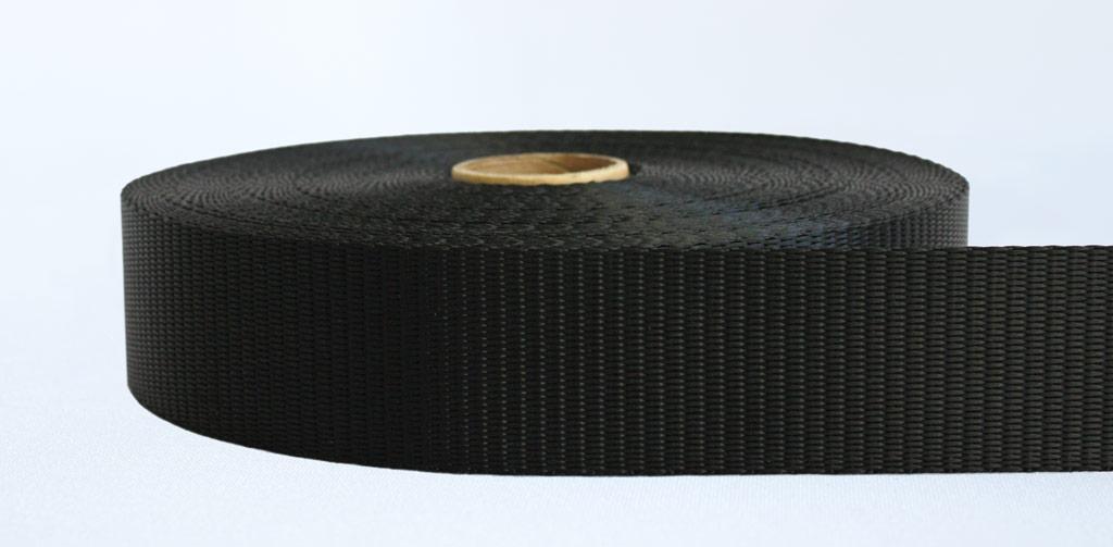 50mm-3 Ton Industrial Webbing Black - Weavewell