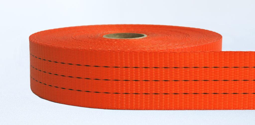 50mm-3 Ton Industrial Webbing Pigment Orange - Weavewell