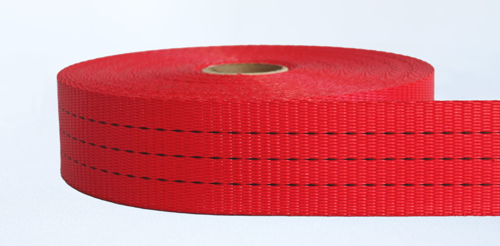 50mm-3 Ton Industrial Webbing Pigment Red - Weavewell