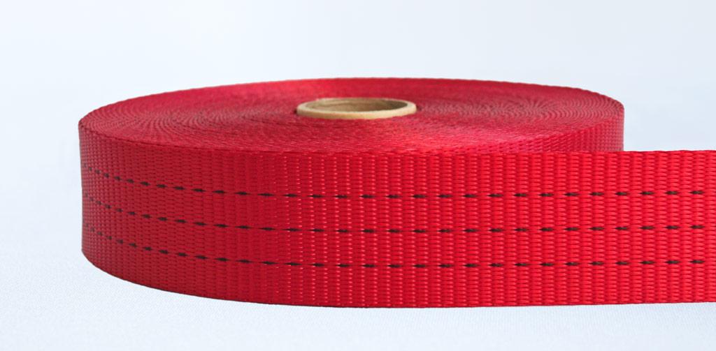 50mm-3 Ton Industrial Webbing Red - Weavewell