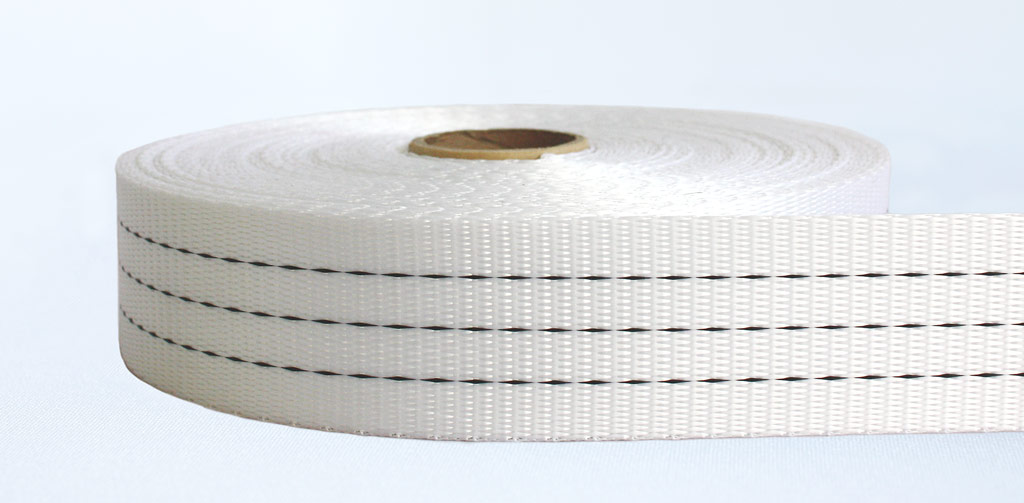 50mm-3 Ton Industrial Webbing Soft White - Weavewell