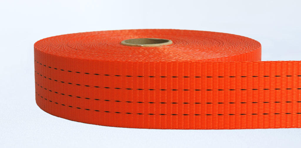 50mm-4 Ton Industrial Webbing Pigment Orange - Weavewell