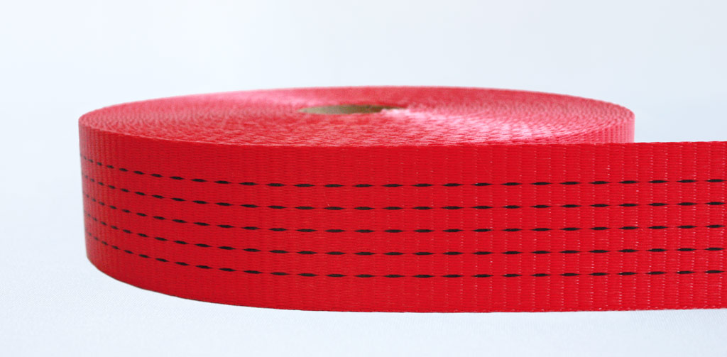 50mm-5 Ton Industrial Webbing Pigment Red - Weavewell