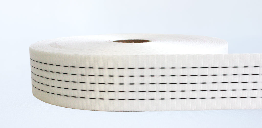 50mm-5 Ton Industrial Webbing Pigment White - Weavewell