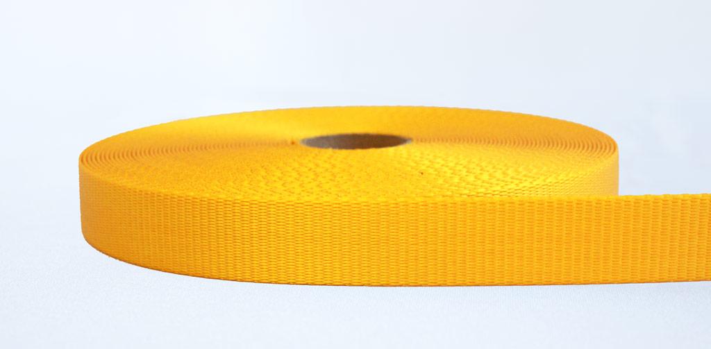 25mm 2.5 Ton Webbing Yellow - Weavewell