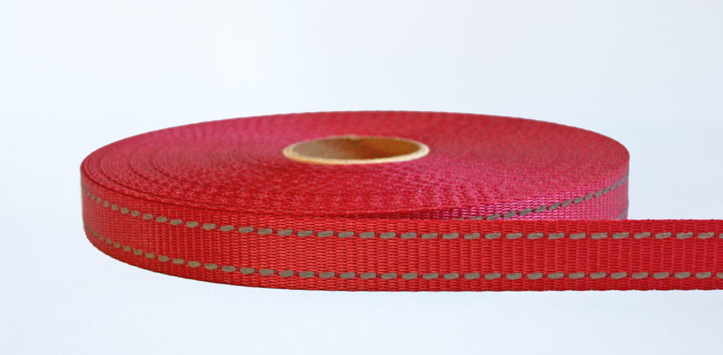 Interwoven Reflective Webbing Red - Weavewell