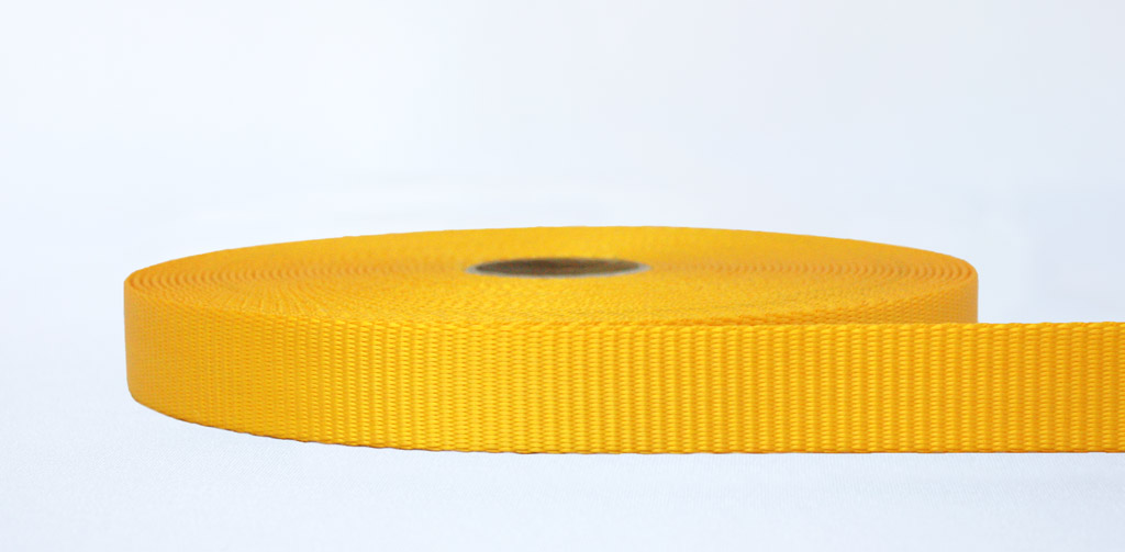 25mm-2.5 Ton Industrial Webbing Yellow - Weavewell