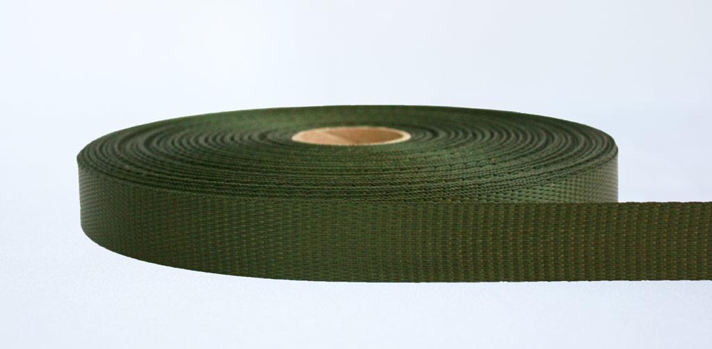 25mm-700kg Industrial Webbing Olive - Weavewell