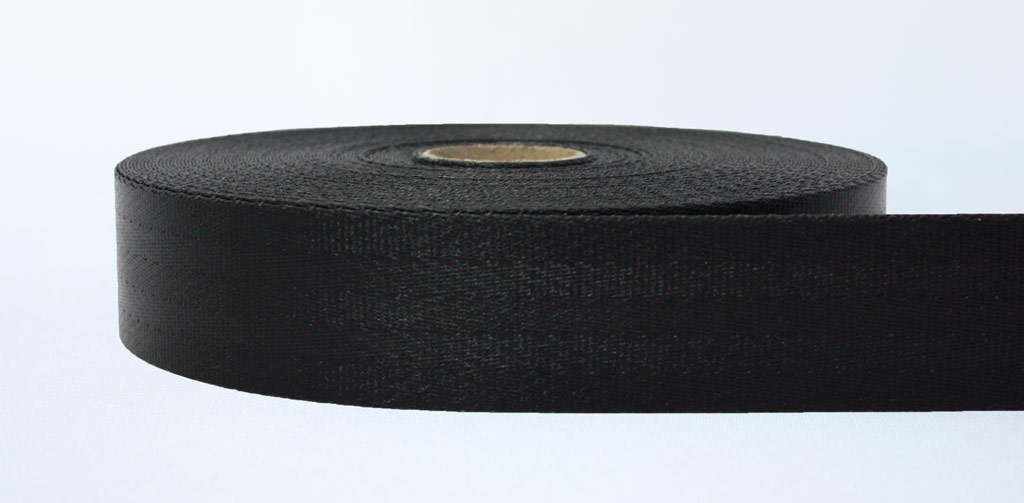 47mm - PVC-Coated Weldable Webbing Black - Weavewell